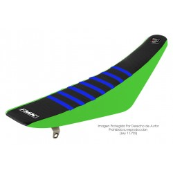 Funda Asiento Negro Lateral Verde + Costillas Color - RIB - FMX COVERS - Ribs - FMX Covers - 1