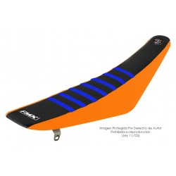 Funda Asiento Negro Lateral Naranja + Costillas Color - RIB - FMX COVERS - Ribs - FMX Covers - 1