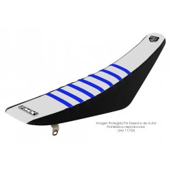 Funda Asiento Blanco Lateral Negro + Costillas Color - RIB - FMX COVERS - Ribs - FMX Covers - 1