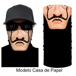 Mascara Pañuelo Multi Funcional Moto Modelo Payaso